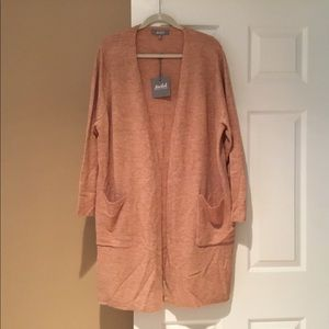 NWT Open Front Long Cardigan 3X